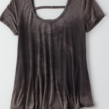 AEO Soft & Sexy Swing T-Shirt , Urban Black   American Eagle Outfitters