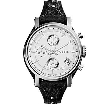Fossil Ladies´ Original Boyfriend Chronograph Leather Saddle Strap Watch | Dillards.com