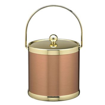 Kraftware Americano 3-qt. Copper & Brass Ice Bucket (Brown)