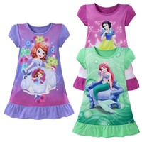 Various Princess Cartoon Nightgowns