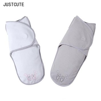 Newborn baby blanket Baby Sleeping Blankets Baby Swaddle sleeping Thick Swaddling clothes spring cocoon thindouble cotton goods