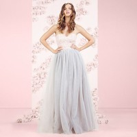 LC Lauren Conrad Runway Collection Tulle Strapless Gown- Women's