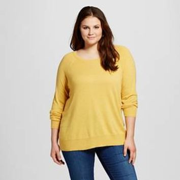 Women's Plus Luxe Crew Neck Sweater Vibrant - Mossimo™ : Target