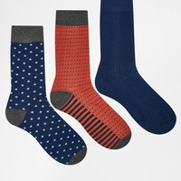 Selected Homme | Selected Homme 3 Pack Socks at ASOS