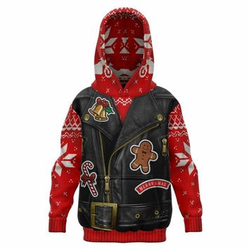 Son of Santa Youth All Over Print Hoodie