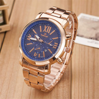 Womens Rose Gold Alloy Band Strap Mrist Watch Best Christmas Gift Watch-451