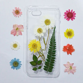 iPhone 5c Case, iPhone 5s Case Clear, Pressed Flower iPhone 5 Case, Clear iPhone 5c Case, iPhone 5s Case, iphone 5c, daisy iphone case