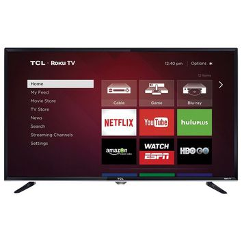 "TCL - 32"" Class (31.5"" Diag.) - LED - 720p - Smart - HDTV Roku TV - Black"