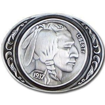 Sports Accessories - Indianhead Nickel Antiqued Belt Buckle