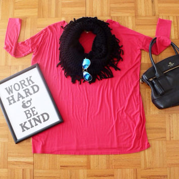 Piko Top + Funky Fringe Infinity Scarf