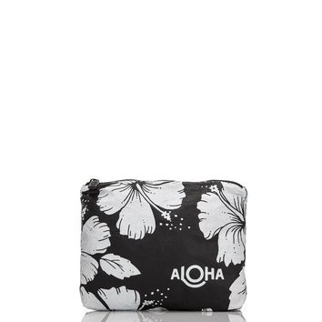 ALOHA Collection - Small Hibiscus Pouch | Black
