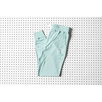 Raised By Wolves College Sweatpants - Mint Green