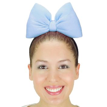 Big Minnie Mouse Bow Headband - Cinderella Blue