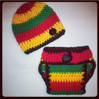Super Adorable Little Rasta Infant Photo Prop Nb, 0-3 or 3-6- Great Prop Set