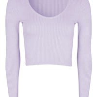 Long Sleeve Choker Top | Topshop