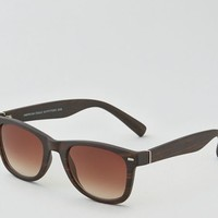 AEO Men's Patterned Icon Sunglasses (Brown)