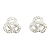 Infinity Loop Stud Earrings: Charlotte Russe