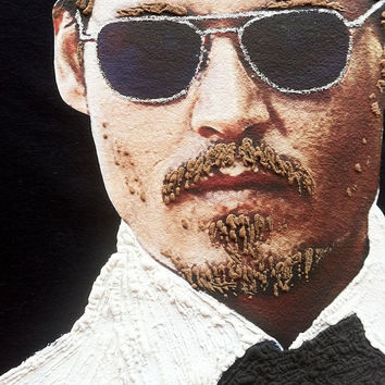 Johnny Depp T-shirt Painted 3d
