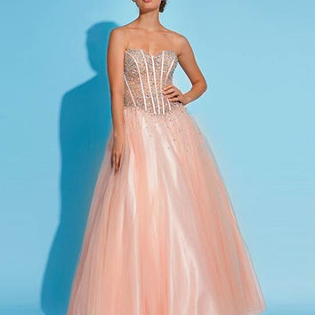 Strapless A-line gown 1332 - Prom Dresses