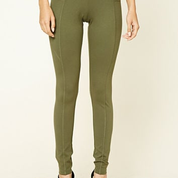 Zip-Front Leggings