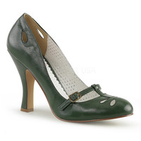 Pin Up Couture Forest Green Smitten Pumps
