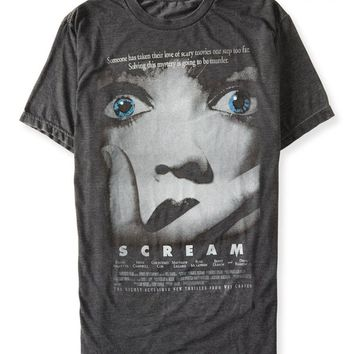 Aeropostale Men's Scream Graphic T Shirt M Black