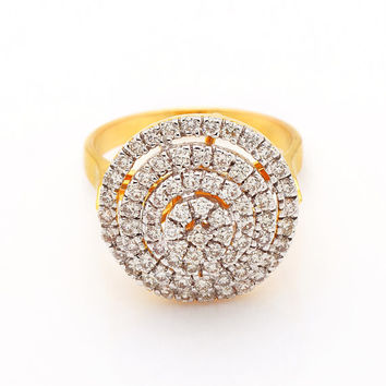 Diamond Cluster Ring in 18Kt Yellow Gold and 0.97 Ct diamonds Cluster ring in 18kt yellow gold, cluster diamond gold ring, ring