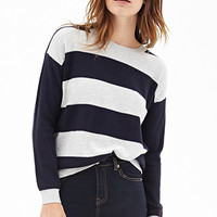 FOREVER 21 Rugby Striped Sweater
