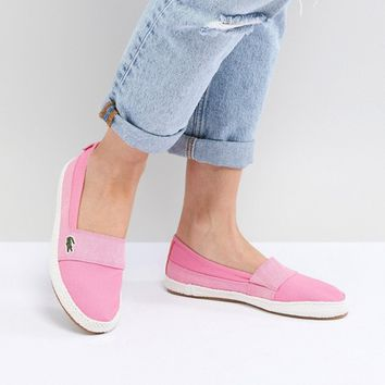 Lacoste Maurice 218 Slip On Espadrille In Pink at asos.com