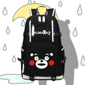 Naruto Sasauke ninja High Quality Mascot Kawaii Kumamon Emoji Bags Printing Women Backpack Mochila Feminina Canvas School Backpacks for Teenage Girls AT_81_8