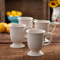 The Pioneer Woman Cowgirl Lace Mug Set, Set of 4 - Walmart.com