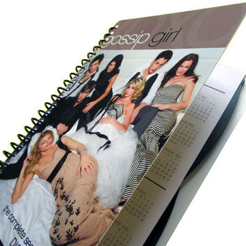 Gossip Girl 2012 - 2013 Daily Planner / Calendar UpCycled Agenda Back to School