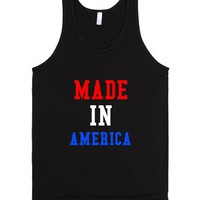 Made In America-Unisex Black Tank