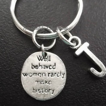 Sale...True quote...... keyring, keychain, bag charm, purse charm, monogram personalized custom gifts, choose your initial style item No.568