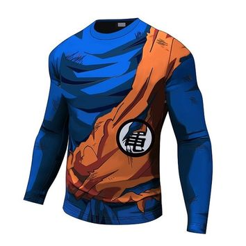 Goku long sleeve Battle damaged armor shirt