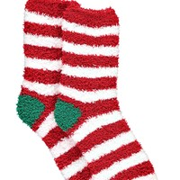 Laura Candy Stripe Christmas Socks