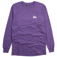 Basic Logo Paint Longsleeve T-Shirt Purple