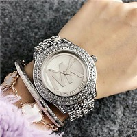 MK Michael Kors New Trend Fashion Waterproof Quartz Watch Silver