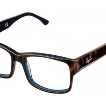 NEW Genuine Ray Ban RX5114 5064 52 Top Havana On Blue Mens Glasses