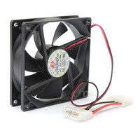 ELEGIANT 90x90x25mm Black Case DC 12V 4Pin Computer PC CPU Silent Cooling Cooler Fan