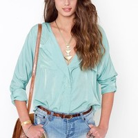 Celine Pocket Blouse - Mint in  Clothes at Nasty Gal