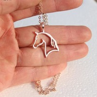 Majestic Horse Pendant Necklace
