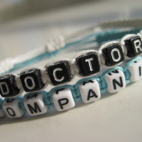 Doctor Who Inspired Bracelets, Time Lord Companion Bracelets, Doctor Companion, Couples Bracelets, Gift box