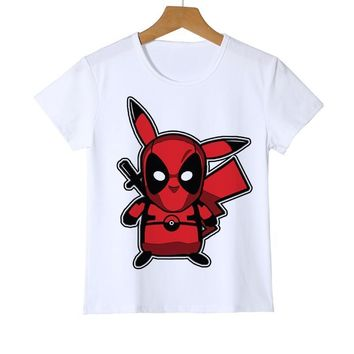 Deadpool Dead pool Taco 3D Cartoon Fashion Pokemon Design tops Shirt Newest  Pikachu Kid T shirt Printed Boy Girl Baby Teen T-Shirts Tee Z41-7 AT_70_6