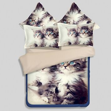 Cat Animal print 3D Bedding sets sheets