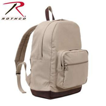 Vintage Canvas Teardrop Backpack w/ Leather Accents
