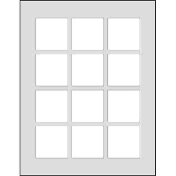 Dashleigh 60 Printable Cardstock Square Hang Tags, Personalize and Custom Tags, Ultra Micro Perforation, 2 inches, White