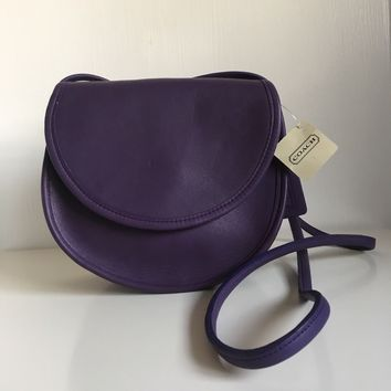 NWT Vintage Coach Casey Bag 9923 Purple Crossbody Purse USA RARE