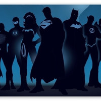 """Super Hero, Superman Wonder Woman, Green Arrow, Batman, Ironman"" Silk Poster 24x36 inches = 1928064260"