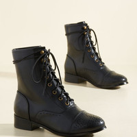 Flaunt Your Footwork Boot in Black | Mod Retro Vintage Boots | ModCloth.com